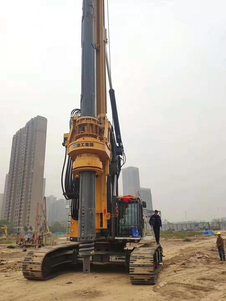 亿欧机锁530-4首页bob配套徐工新品旋挖XR360E在陕西工地施工