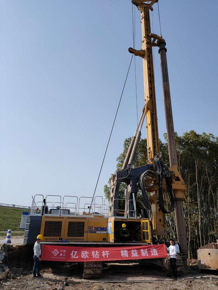 亿欧JS530-4*17m首页bob配套徐工XR360E旋挖钻机在浙江工地施工
